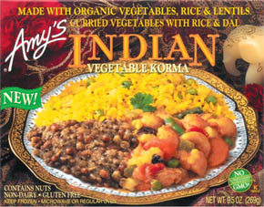 This lentil meal has a great light curry flavor. I love it....and had it for dinner tonight! image: amys.com