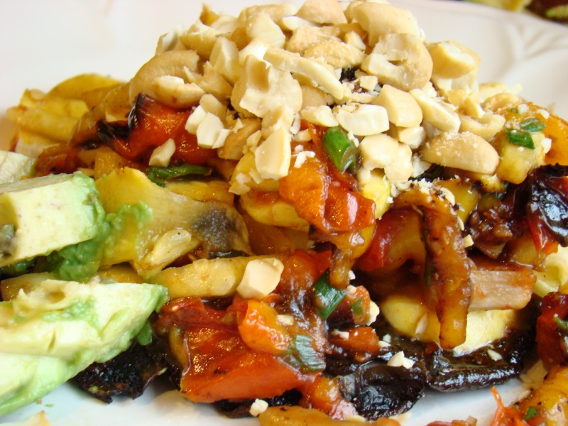 portabello mushroom with vegetables