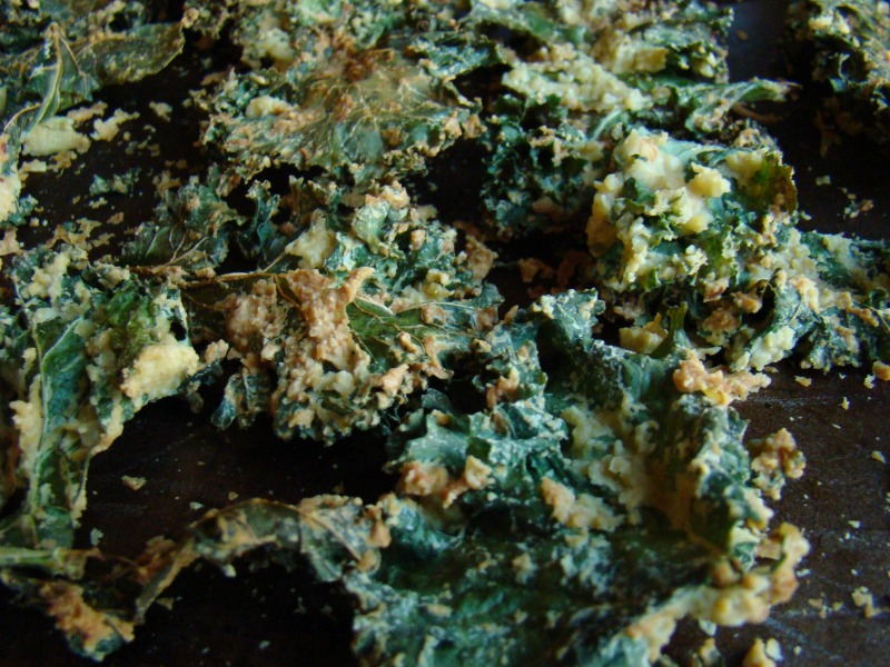 Here are the kale chips by Christine